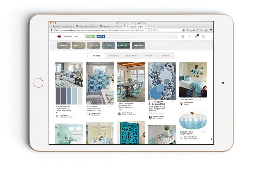 Create a board and start pinning on Pinterest! // Happenstance Studio