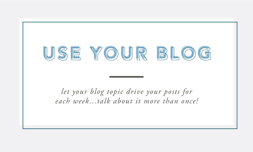 Use Your Blog