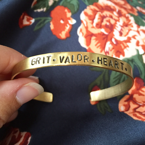 Grit Valor Heart Bangle from the Swag Bag