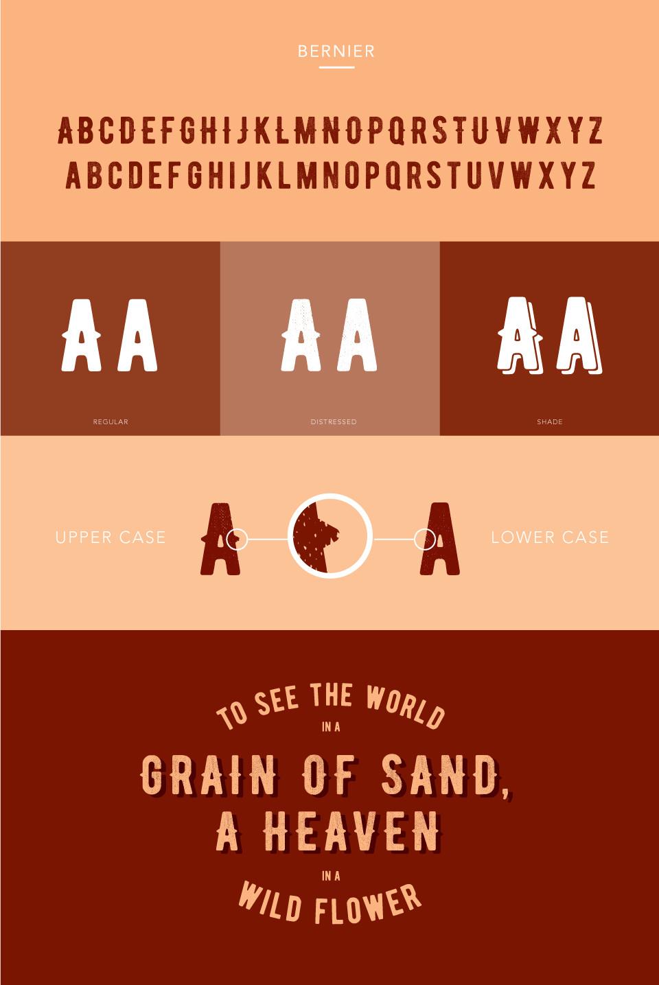Bernier Free Font Family Example
