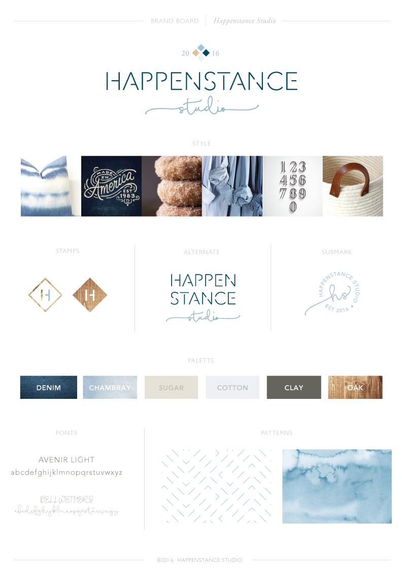 Brand Board: Happenstance Studio