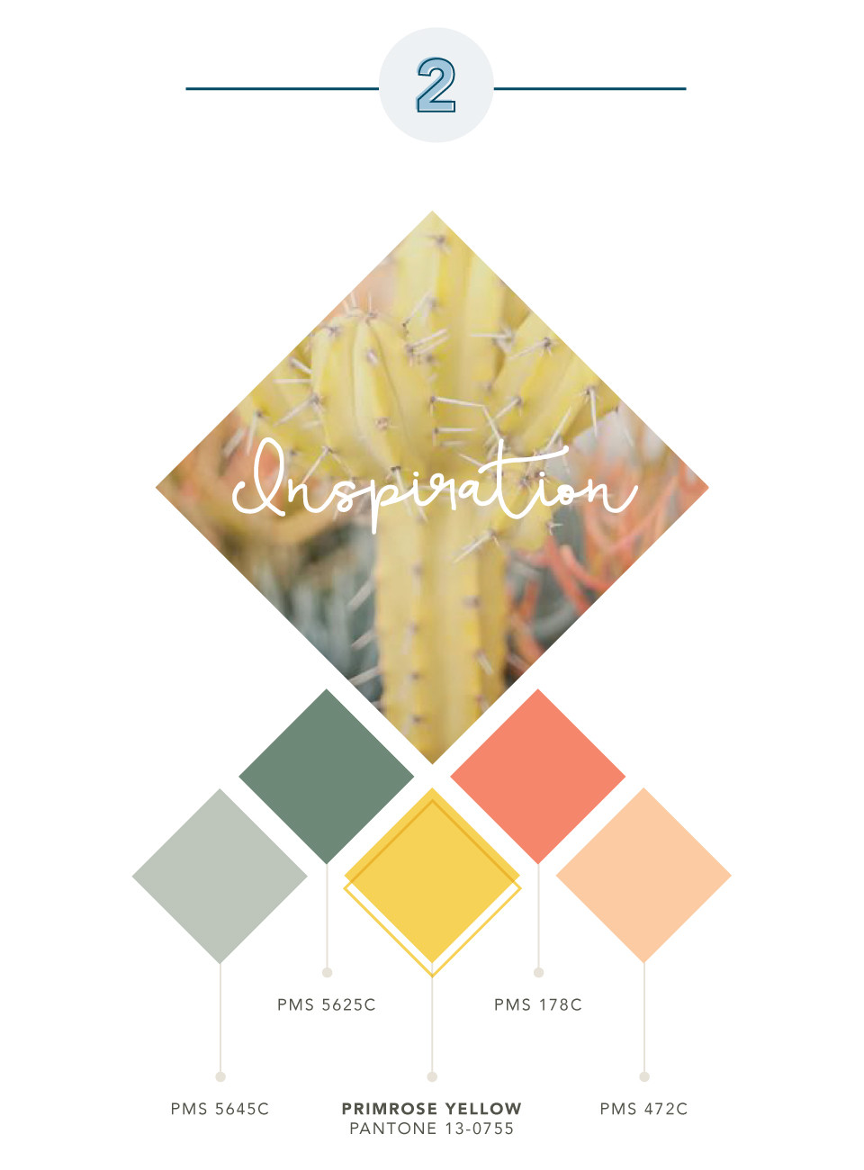 "Color palette inspired by Pantone color ""Primrose Yellow"""