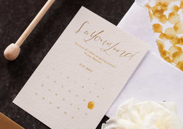 Honey Farm to Table Wedding Save the Date