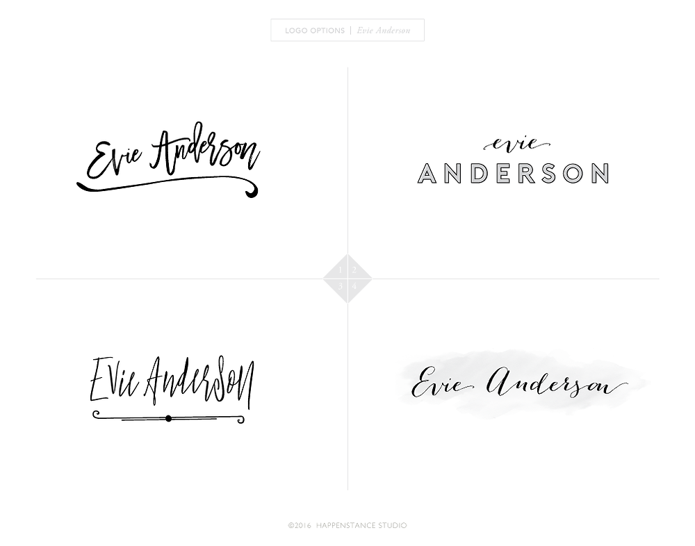 Evie Anderson Logo Options
