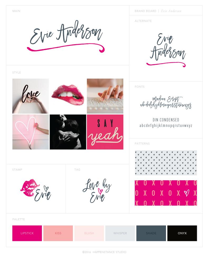 Evie Anderson Brand Board