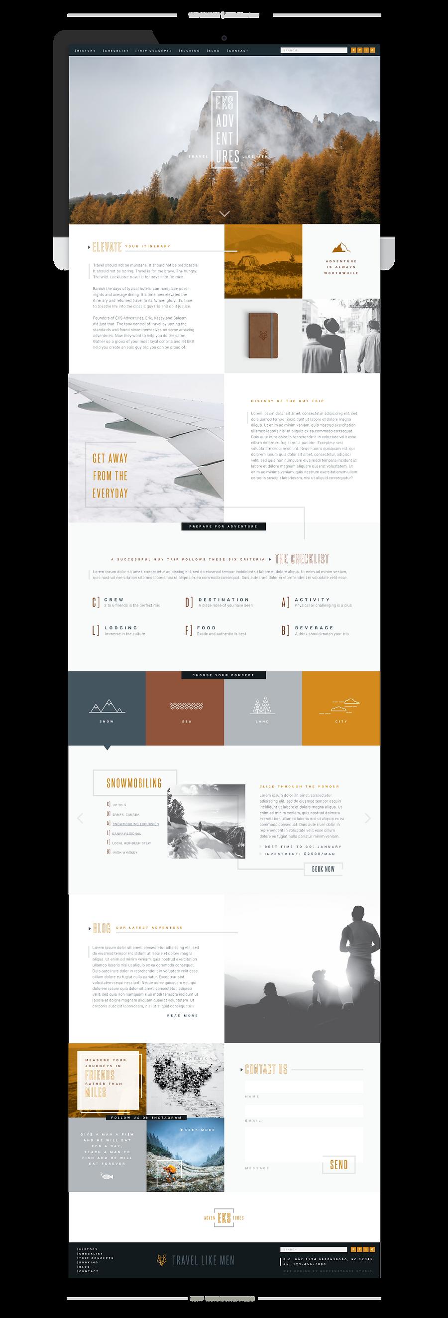 EKS Adventures Web Concept