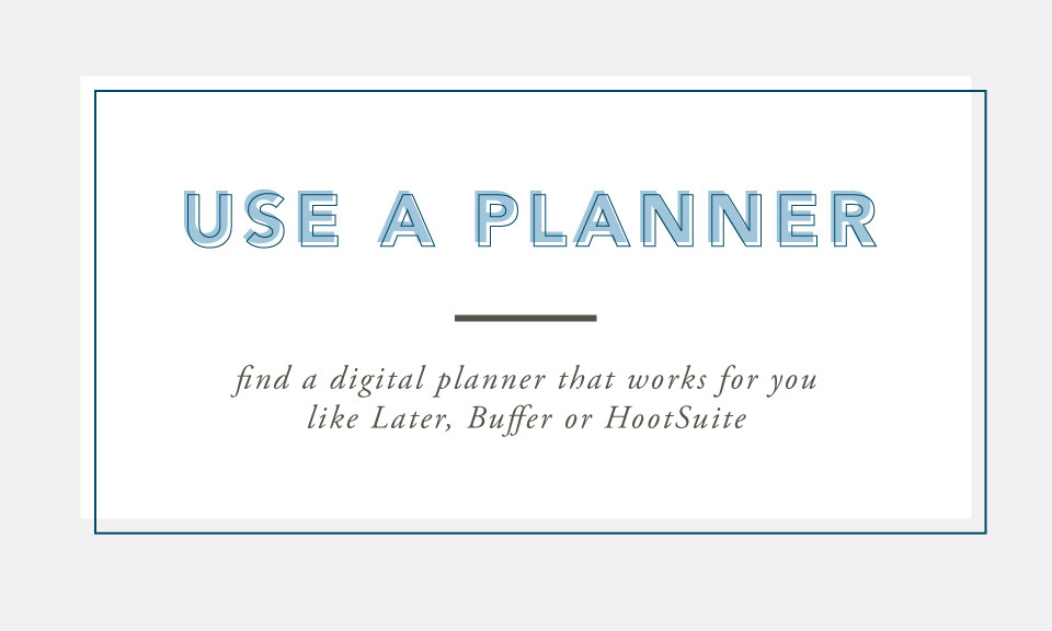Use a Planner