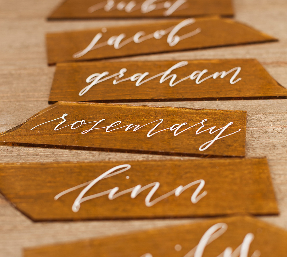Honey Farm to Table Wedding Placecards