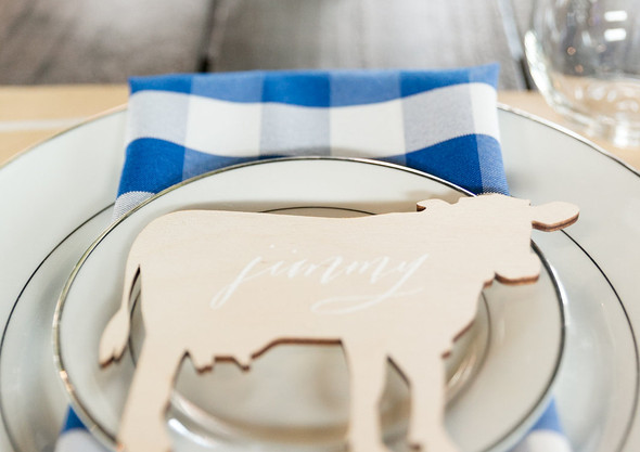 Backyard BBQ Wedding Placecard