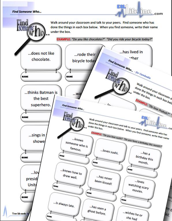 Esl Lifeline Resourses Materials Lesson Plans Esl Lifeline