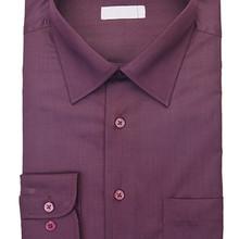 Aubergine button-up shirt
