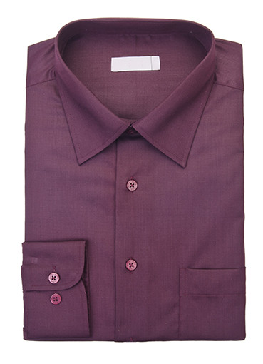 Aubergine button-up shirt