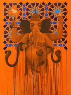 Ganesha with halo