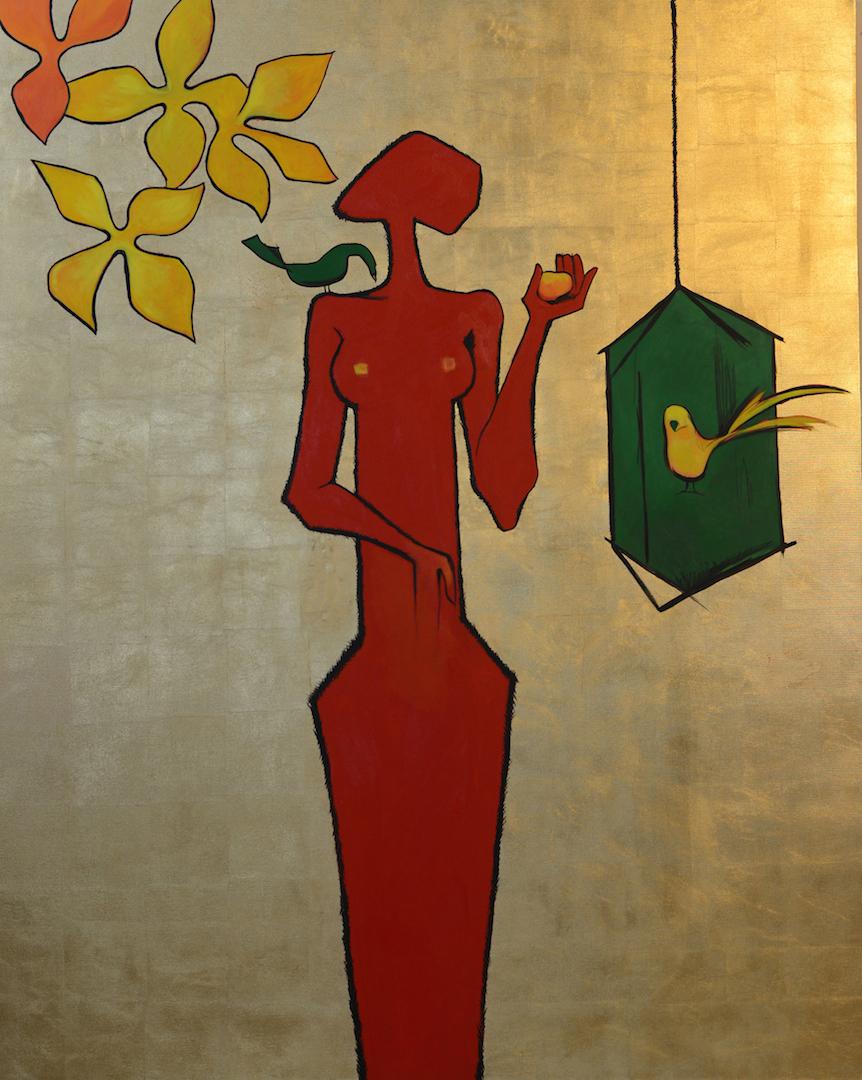 Birdcage (After Shakir Ali)