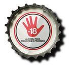 Venda de bebida alcoolica proibida para menores de 18 anos