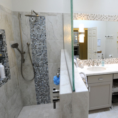 Master Bath with Curbless Shower