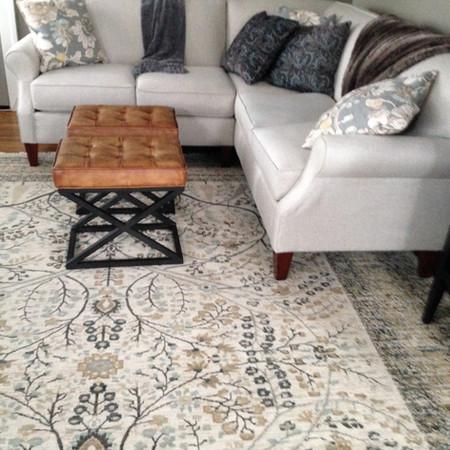 Warm and Cozy Living Corner with Earthtones