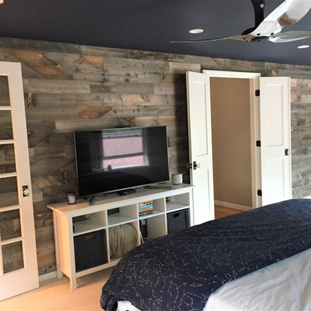 Master Bedroom with Stikwood Wall