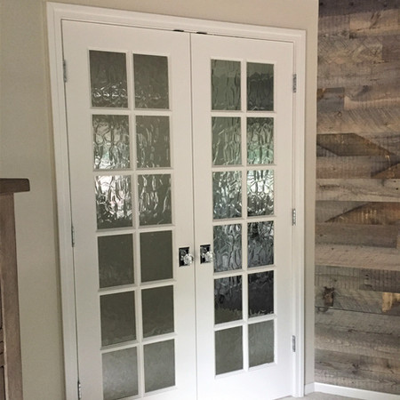 French Doors with Textured Glass