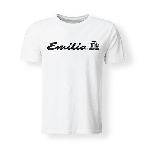 Emilio Inc. Plain White Tee w/ Black  Logo