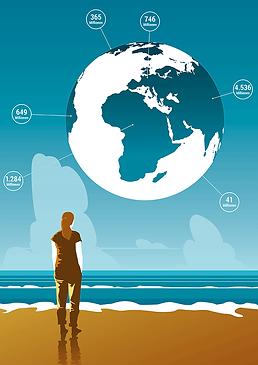 Infografik Globus