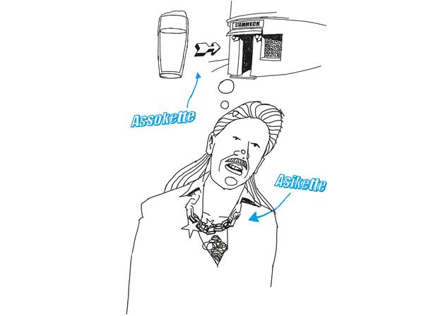 Harald Oehlerking Buch Illustration Wer zuletzt lacht, denkt zu langsam