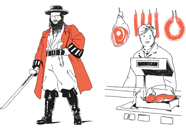 Harald Oehlerking Buch Illustration Hau auf die Leberwurst