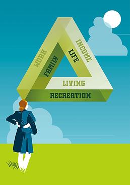 Infografik Penrose-Dreieck