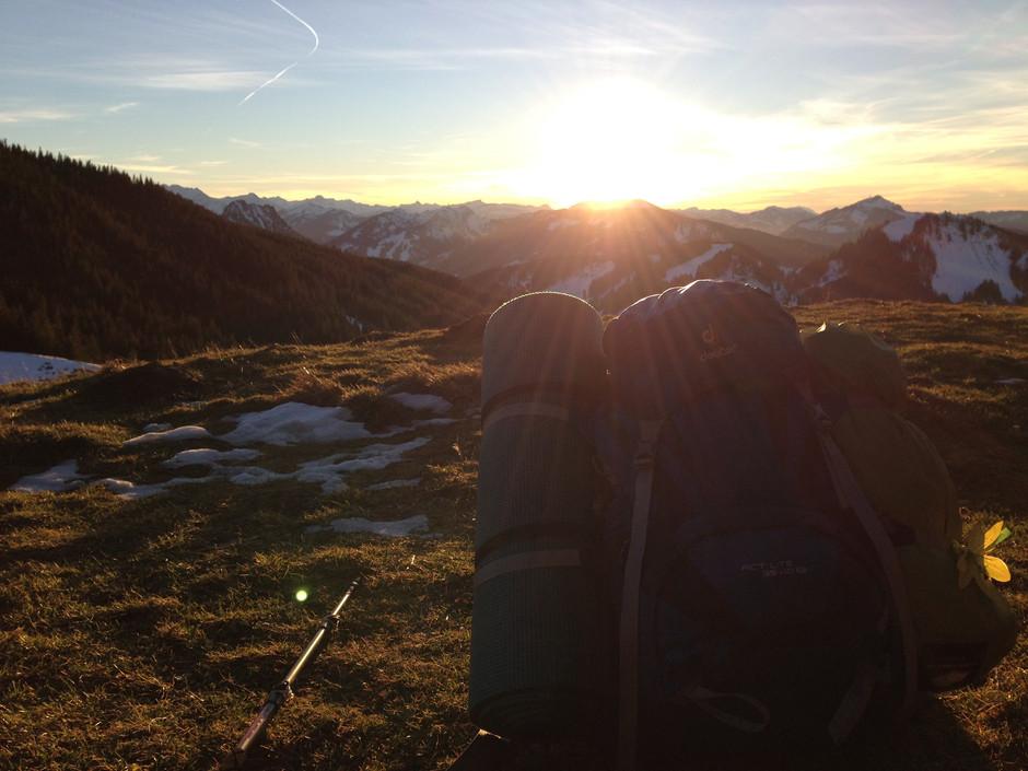 Meine Ausrüstung - mit 5,5kg über die Alpen