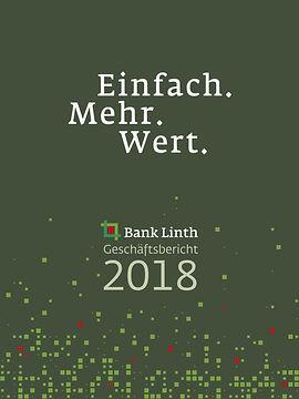 Bank Linth Titelblatt Geschäftsbericht 2018