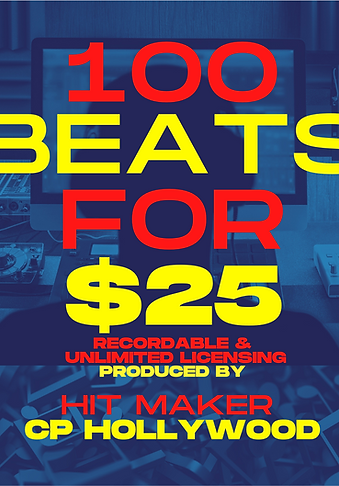 100 Beats for $25 (2nd Package)
