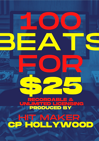 100 Beats for $25 (1st Package)