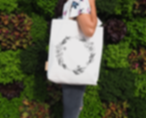 Hunter and the fox designer tote bags