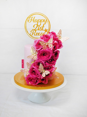 Cascade of Pink Roses