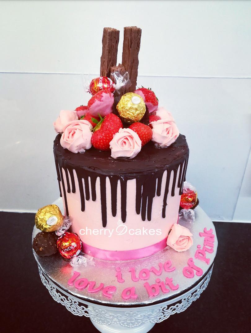 Chocolate Drip Pink