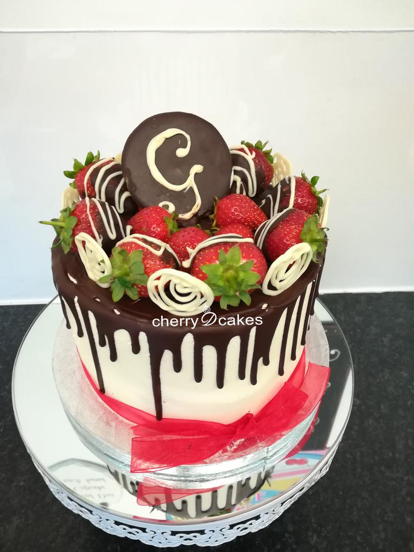 Strawberries & Chocolate Drip