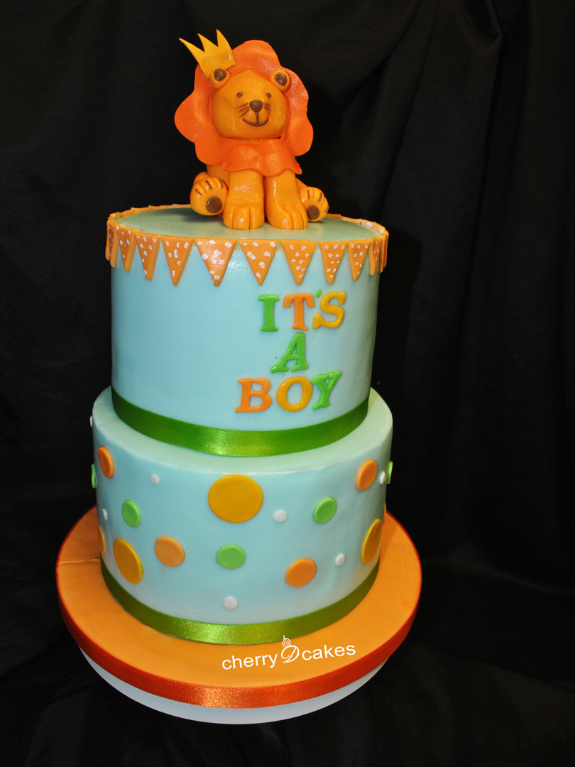 Lion It's A Boy Cake