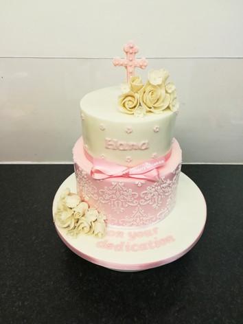 White & Baby Pink Dedication