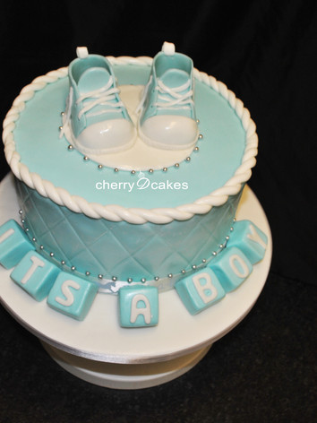 It's A Boy Shoe Cake
