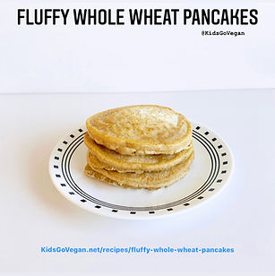 Fluffy Whole Wheat Pancakes