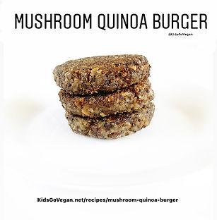 Mushroom Quinoa Burger