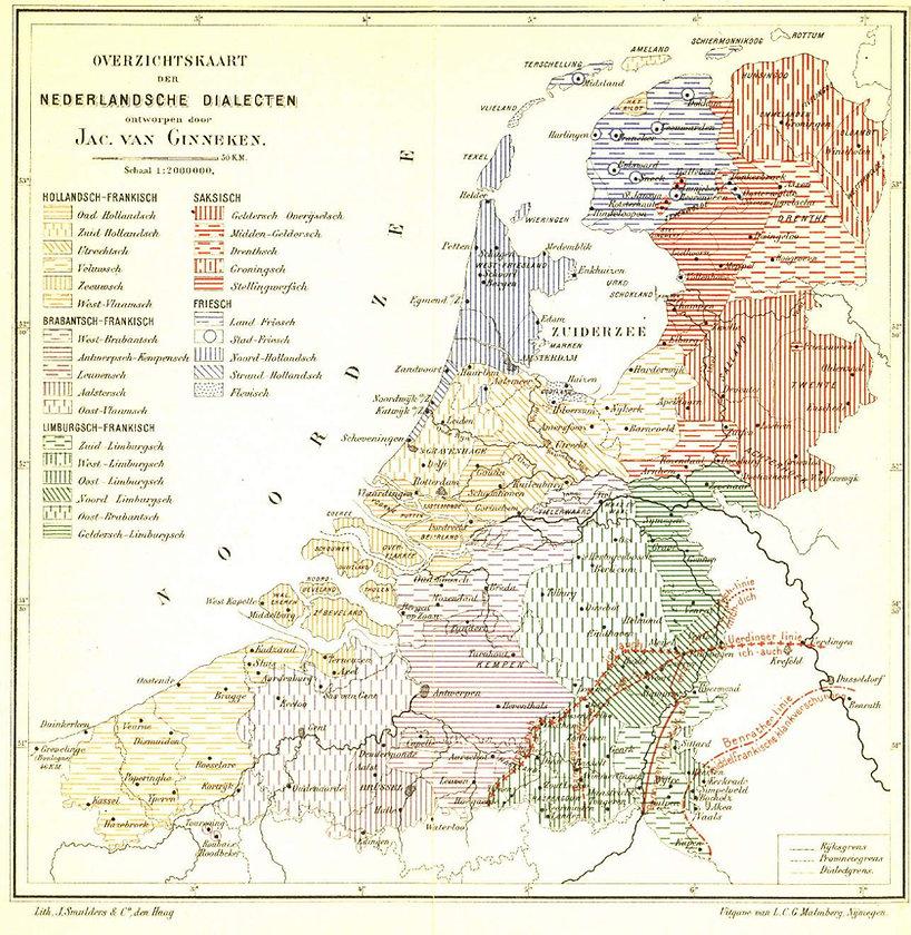 overzicht Nederlandse dialecten