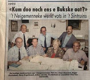 1993 de leden van 't Neigemènneke aan het werk