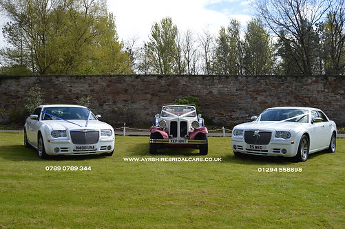 Bespoke bridal cars from Ayrshire bridal cars include our soft top convertible 4 door beauford bridal car