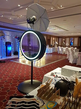 beauty selfie mirror set in a wedding reception