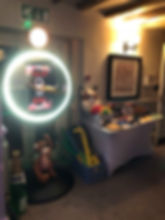 our beauty magic mirror and props set up awaitng guests