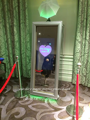The classic selfie mirror at the bar in the seamill hydro Ayrshire for a fun photo booth evening