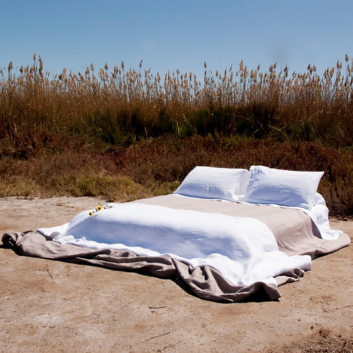Piecera 120x240cm de Lino (blanca y natural-arena)