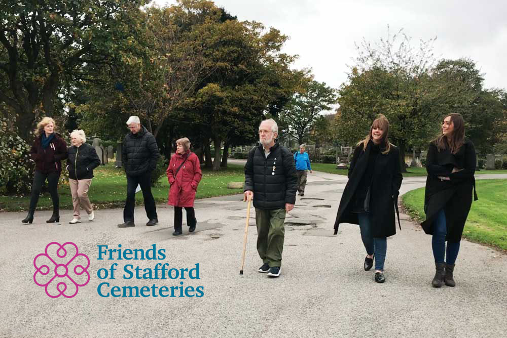 Friends of Stafford Cemeteries on a tour of Anfield Cemetery