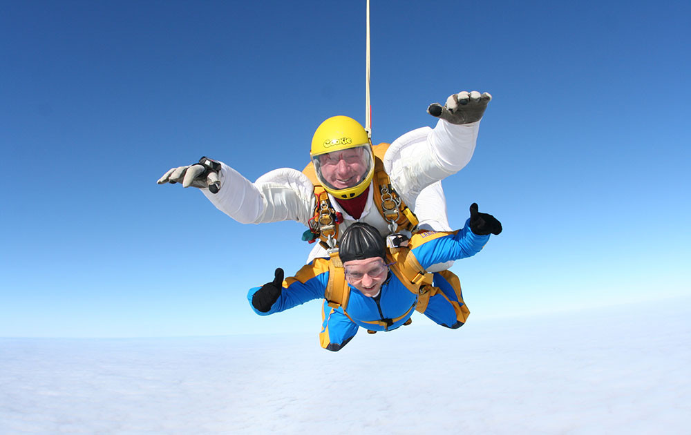Skydive with Edson Evers to raise money for Crossroads Care Staffordshire (2013)